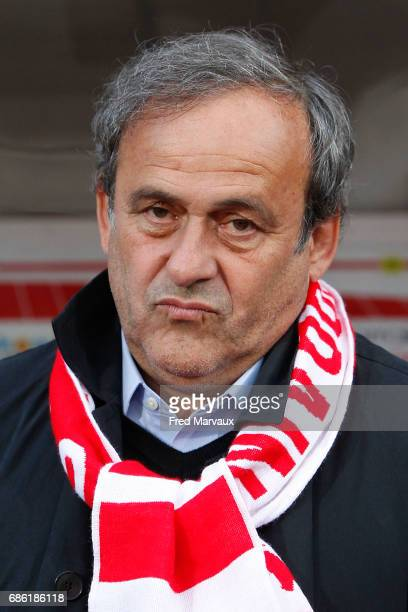 Michel Platini during the Ligue 1 match between AS NancyLorraine and AS SaintEtienne at Stade Marcel Picot on May 20 2017 in Nancy France