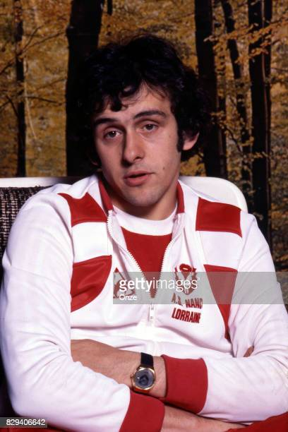 Michel Platini during the training with his team Nancy on 6th September 1977