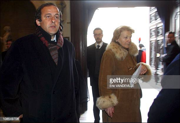 Michel Platini in Turin Italy on January 26th 2003