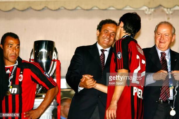 Michel PLATINI / KAKA Milan AC / FC Seville Finale de la Super Coupe d'Europe Monaco