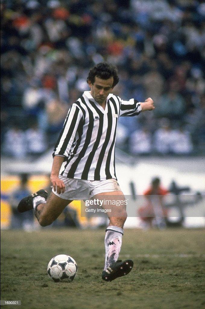 Michel Platini of Juventus in action during a match. \ Mandatory Credit: Allsport UK /Allsport