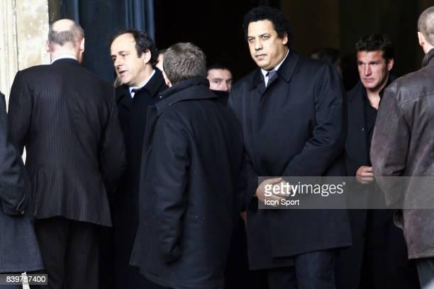Michel PLATINI / Serge BLANCO Enterrement de Thierry GILARDI Monfort l ' Amaury