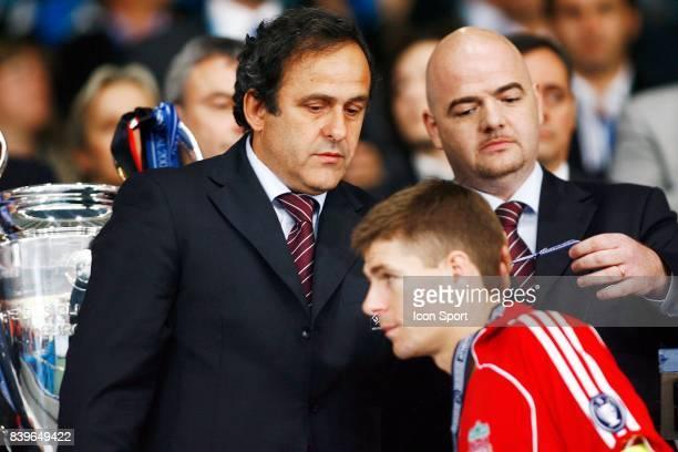 Michel PLATINI / Steven GERRARD Milan Ac / Liverpool Finale de Champions League Athenes