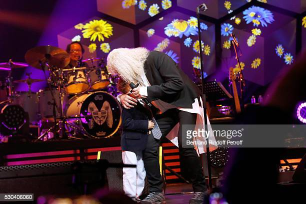 Michel Polnareff and his son Louka perform at Accor Hotels Arena Bercy Day 3 on May 10 2016 in Paris