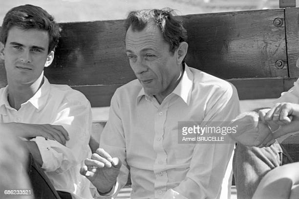 Michel Rocard and Manuel Valls at a Summer University for young Rocardians in Les Arcs France 6th September 1985