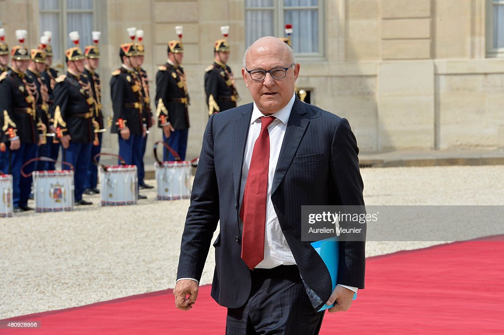<a gi-track='captionPersonalityLinkClicked' href=/galleries/search?phrase=Michel+Sapin&family=editorial&specificpeople=668944 ng-click='$event.stopPropagation()'>Michel Sapin</a>, French Minister of accounts and Public Accounts for a strategic meeting with French President Francois Hollande and Mexican President Enrique Pena Nieto at Elysee Palace on July 16, 2015 in Paris, France. They will talk about the universel abolition of the death penalty and their cooperation to maintain world peace.