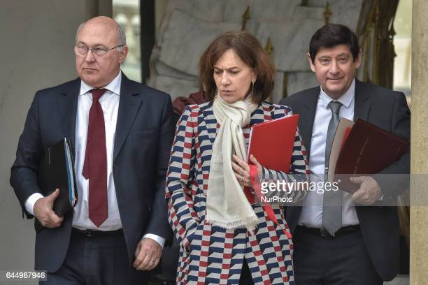 Michel Sapin Laurence Rossignol Patrick Kanner in Paris France on February 24 2017