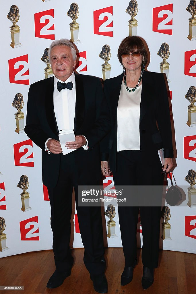 Michel Sardou and his wife Anne-Marie Perier attend the 26th Molieres Awards Ceremony at Folies Bergere on June 2, 2014 in Paris, France.