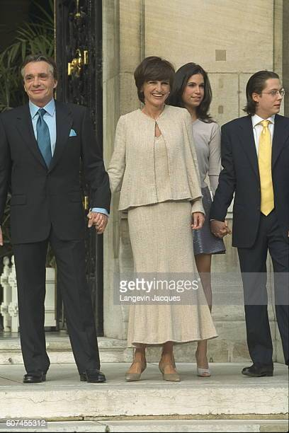 Michel Sardou with AnneMarie Périer and son Davy