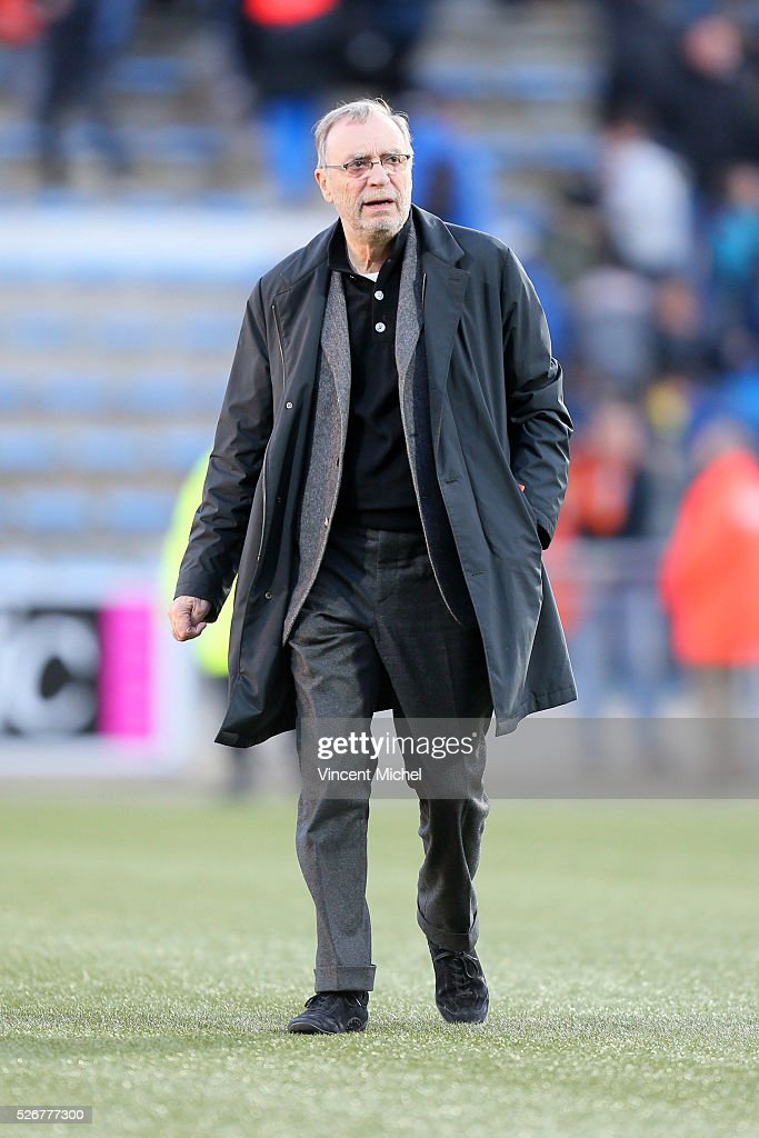 Michel Seydoux president of Lille during the French Ligue 1 match between Fc Lorient and Lille OSC at Stade du Moustoir on April 30 2016 in Lorient...