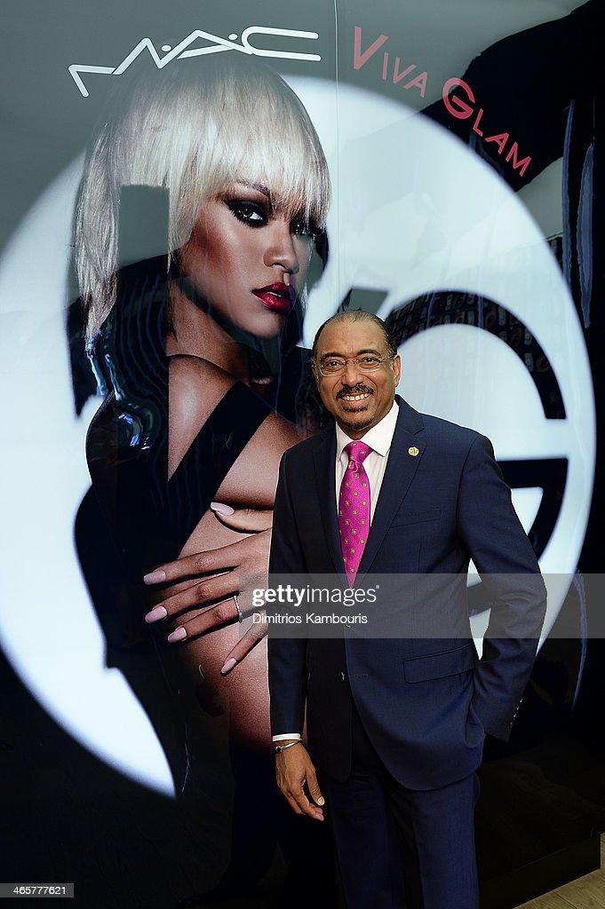 Michel Sidibe Executive Director UNAIDS attends the MAC Cosmetics Launch of Viva Glam Rihanna at MAC Store Soho on January 29, 2014 in New York City.