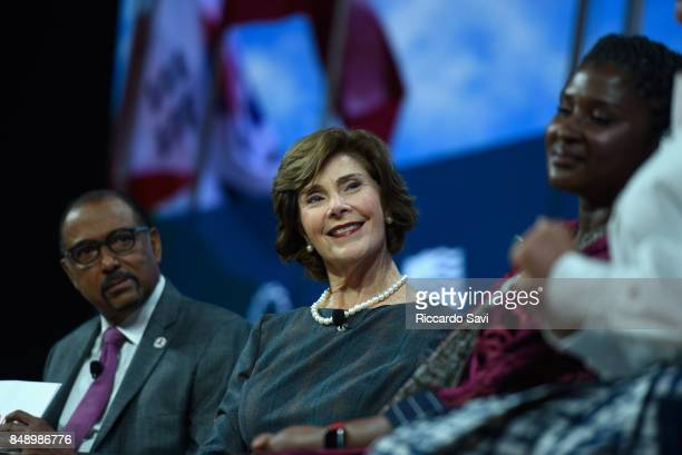 Michel Sidibe Executive Director UNAIDS Laura Bush Former First Lady United States of America and Her Excellency Monica Geingos First Lady of Namibia...