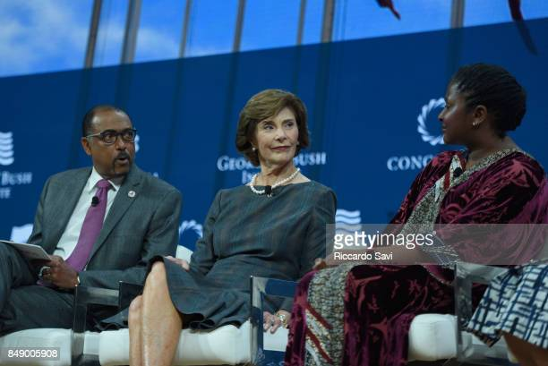 Michel Sidibe Executive Director UNAIDS Laura Bush Former First Lady United States of America and HE Monica Geingos First Lady Republic of Namibia...