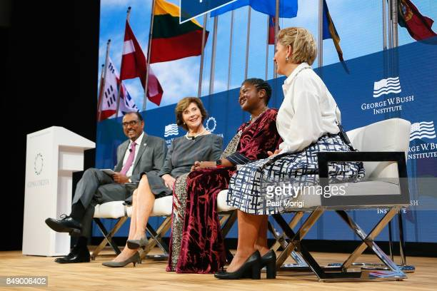 Michel Sidibe Executive Director UNAIDS Laura Bush Former First Lady United States of America HE Monica Geingos First Lady Republic of Namibia and...