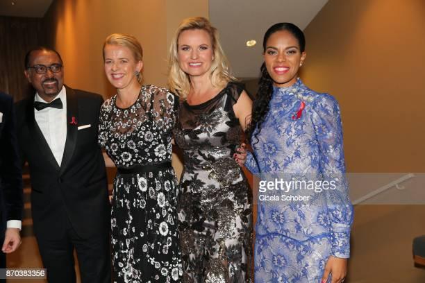 Michel Sidibe Unaids Executive Director IKH Princess Mabel von OranienNassau Mabel Wisse Smit widow of Prince Johan Friso von OranienNassau Carola...