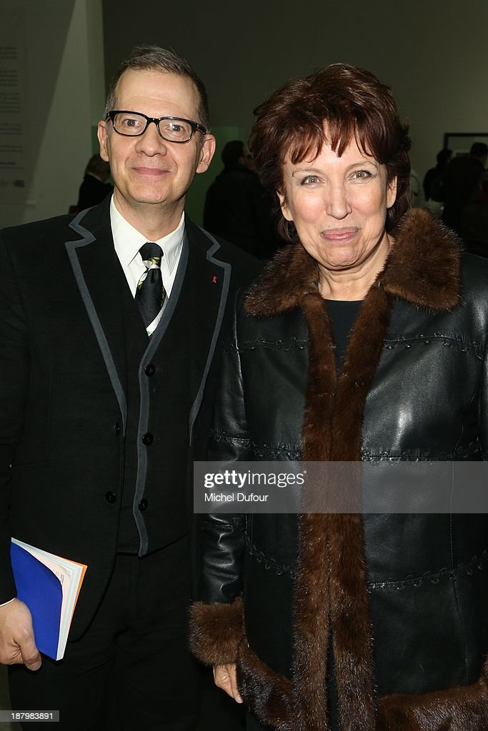 Michel Simon and Roselyne Bachelot attend Art Is Hope' Exhibition Preview In Benefit Of 'AIDS Association' At Palais De Tokyo at Palais De Tokyo on...
