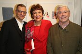 Michel Simon Roselyne Bachelot and Rene Julien Praz attend the 'Art Is Hope' Press Preview In Paris on December 3 2014 in Paris France