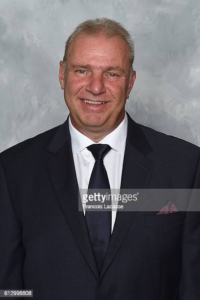 Michel Therrien of the Montreal Canadiens poses for his official headshot for the 20162017 season on September 22 2016 at the Bell Sports Complex in...