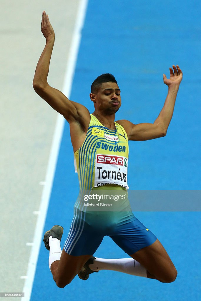 Michel Torneus of Sweden competes in the Men's Long Jump Final during day three of European Indoor Athletics at Scandinavium on March 3, 2013 in Gothenburg, Sweden.