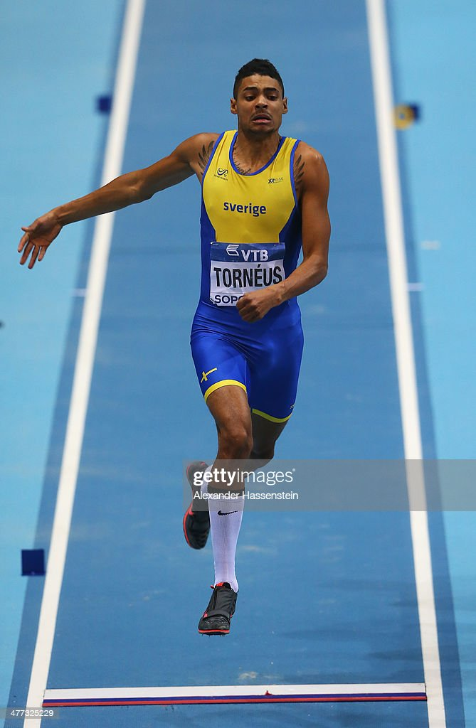 Michel Torneus of Sweden competes in the Men's Long Jump Final during day two of the IAAF World Indoor Championships at Ergo Arena on March 8, 2014 in Sopot, Poland.