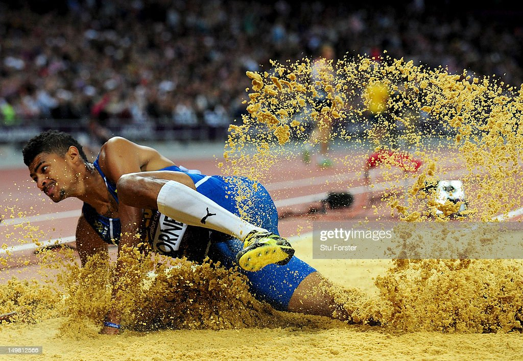 Michel Torneus of Sweden competes in the Men's Long Jump Finalon Day 8 of the London 2012 Olympic Games at Olympic Stadium on August 4, 2012 in London, England.