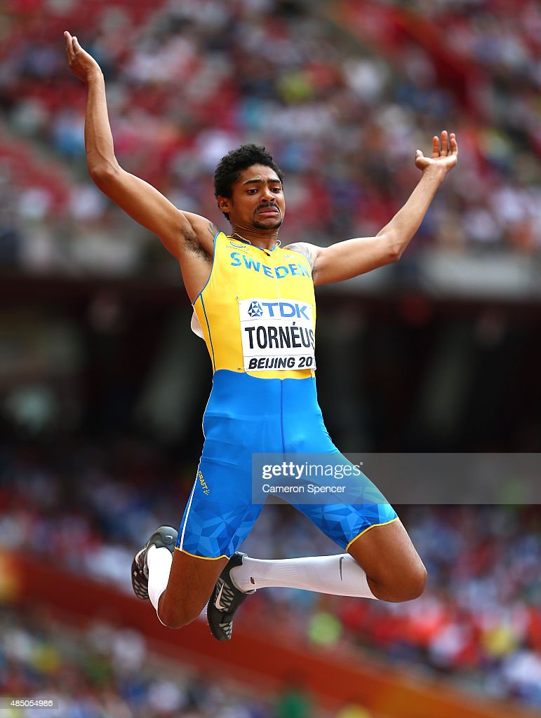 Michel Torneus of Sweden competes in the Men's Long Jump qualification during day three of the 15th IAAF World Athletics Championships Beijing 2015 at Beijing National Stadium on August 24, 2015 in Beijing, China.