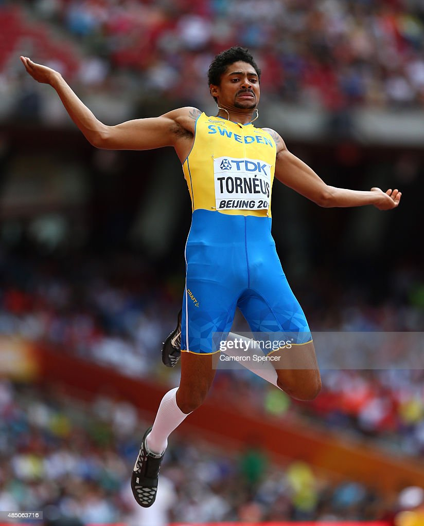 Michel Torneus of Sweden ompetes in the Men's Long Jump qualification during day three of the 15th IAAF World Athletics Championships Beijing 2015 at Beijing National Stadium on August 24, 2015 in Beijing, China.