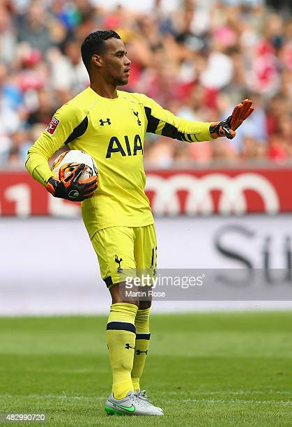 Michel Vorm goalkeeper of Tottenham Hotspur gestures during the Audi Cup 2015 match between Real Madrid and Tottenham Hotspur at Allianz Arena on...