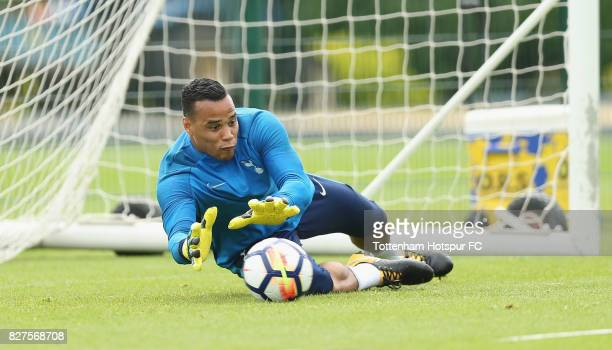 Michel Vorm of Tottenham during the Tottenham Hotspur training session at Tottenham Hotspur Training Centre on August 8 2017 in Enfield England
