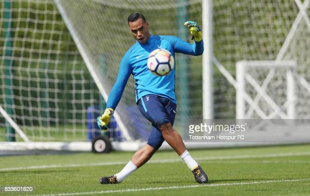 Michel Vorm of Tottenham during the Tottenham Hotspur training session at Tottenham Hotspur Training Centre on August 17 2017 in Enfield England