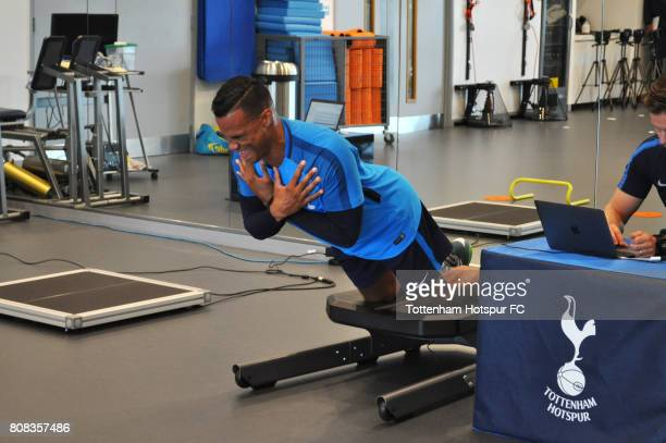 Michel Vorm of Tottenham Hotspur returns to training at Tottenham Hotspur Football Club Training Ground on July 3 2017 in Enfield England