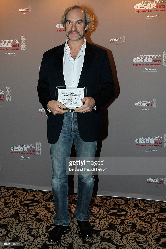 <a gi-track='captionPersonalityLinkClicked' href=/galleries/search?phrase=Michel+Vuillermoz&family=editorial&specificpeople=4289216 ng-click='$event.stopPropagation()'>Michel Vuillermoz</a> attends the Cesar 2013 nominne lunch at Le Fouquet's on February 2, 2013 in Paris, France.