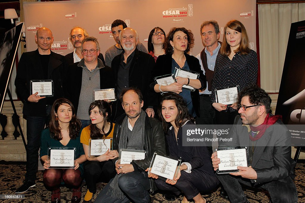 Michel Vuillermoz, Judith Chemla, Samir Guesmi, Noemie Lvovsky, Julia Faure and India Hair attend the Cesar 2013 nominne lunch at Le Fouquet's on February 2, 2013 in Paris, France.