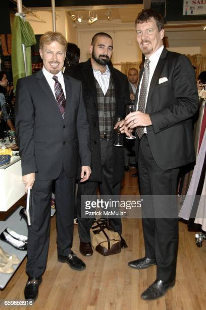 Michel Witmer Edward Garou and Simon van Kempen attend SECOND TIME AROUND Resale Goes Upscale and Uptown at Second Time Around on November 3 2009 in...