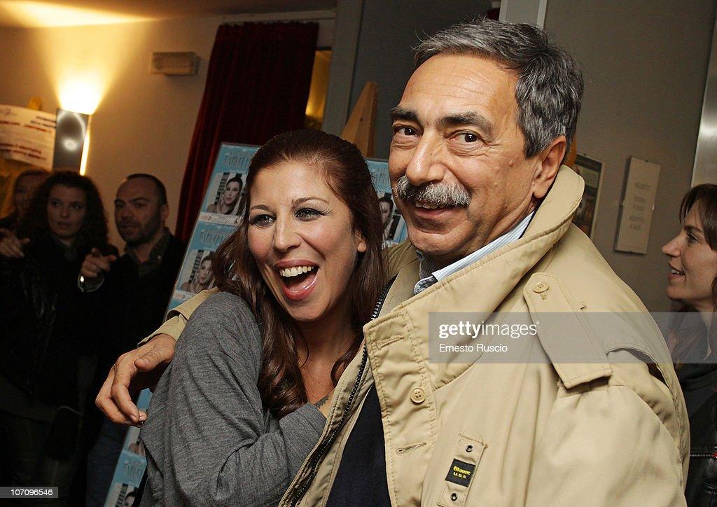 Michela Andreozzi and Marino Bartoletti attend the 'A Letto Dopo Il Carosello' theatre premiere at Teatro 7 on November 23, 2010 in Rome, Italy.