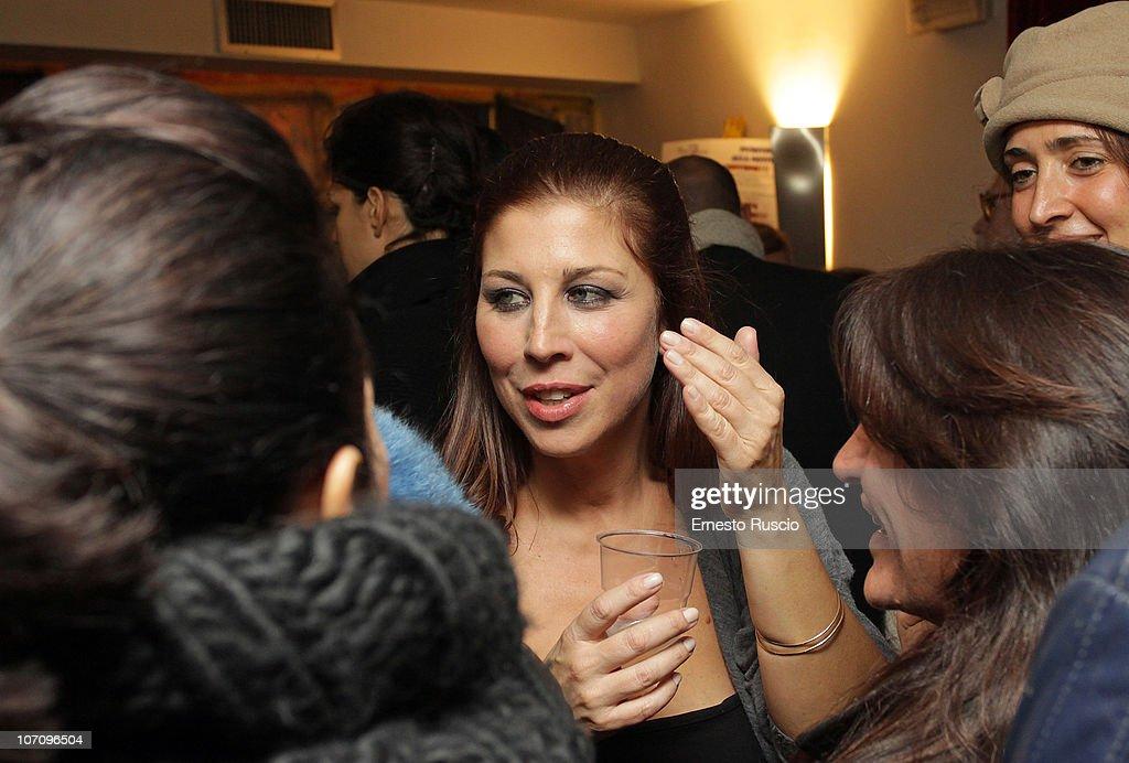 Michela Andreozzi attends the 'A Letto Dopo Il Carosello' theatre premiere at Teatro 7 on November 23, 2010 in Rome, Italy.