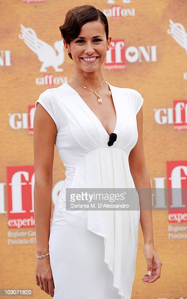 Michela Coppa attends a photocall during the Giffoni Experience 2010 on July 24 2010 in Giffoni Valle Piana Italy