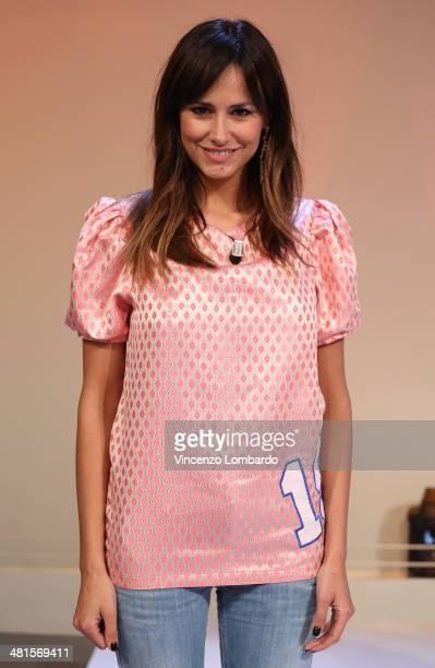 Michela Coppa attends at 'Quelli Che Il Calcio' TV Show on March 30 2014 in Milan Italy
