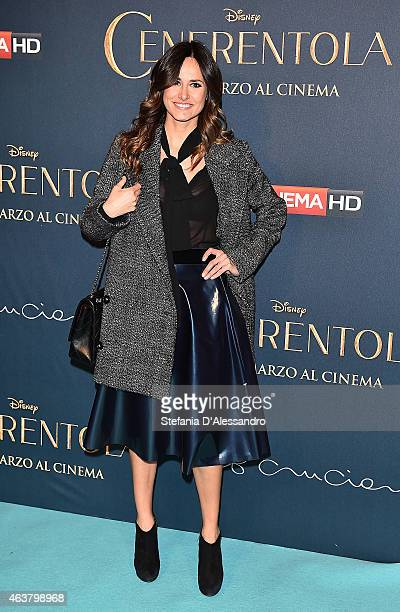 Michela Coppa attends 'Cinderella' Screening held at Cinema Odeon on February 18 2015 in Milan Italy
