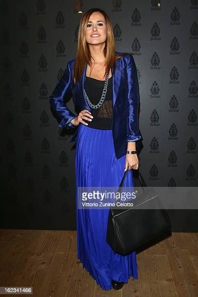Michela Coppa attends Dondup Fashion Event at Venue Teatro Parenti on February 21 2013 in Milan Italy