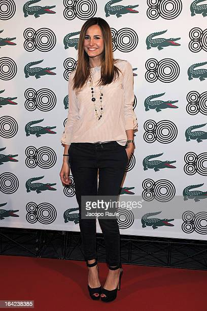 Michela Coppa attends Lacoste 80th Anniversary cocktail party at La Rinascente on March 21 2013 in Milan Italy