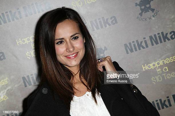 Michela Coppa attends the 'Niki Nika' Flagship Store Opening at via Borgognona on December 16 2011 in Rome Italy