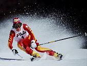 Michela Figini of Switzerland during the International Ski Federation Women's Giant Slalom at the FIS Alpine World Ski Championship on 5 February...