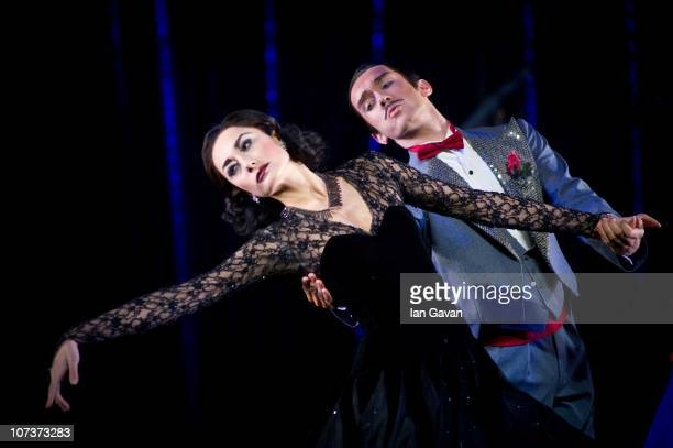 Michela Meazza and Dominic Lamb perform on stage during a photocall for Matthew Bourne's Cinderella at Saddler's Wells on December 7 2010 in London...