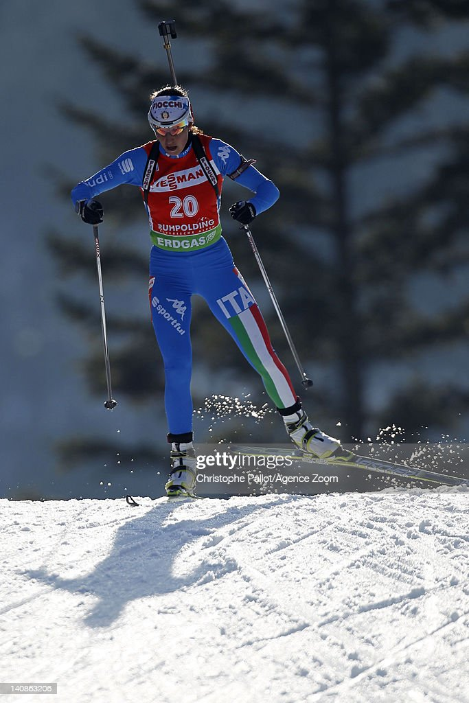 Michela Ponza of Italy competes during the IBU Biathlon World Championships Women's Distance on March 07, 2012 in Ruhpolding, Germany.
