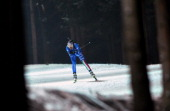 Michela Ponza of Italy competes during the Women 4x6km relay event of the IBU Biathlon World Championships in Nove Mesto Czech Republic on February...