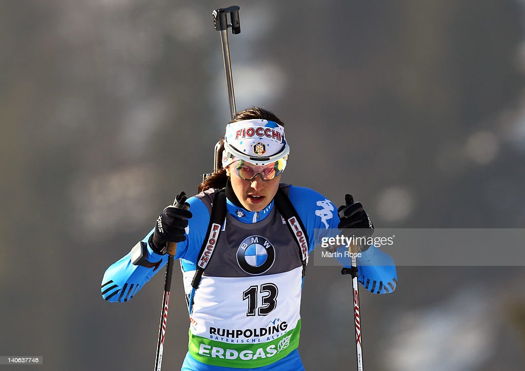 <a gi-track='captionPersonalityLinkClicked' href=/galleries/search?phrase=Michela+Ponza&family=editorial&specificpeople=813639 ng-click='$event.stopPropagation()'>Michela Ponza</a> of Italy competes in the women's 7,5km sprint during the IBU Biathlon World Championships at Chiemgau Arena on March 3, 2012 in Ruhpolding, Germany.