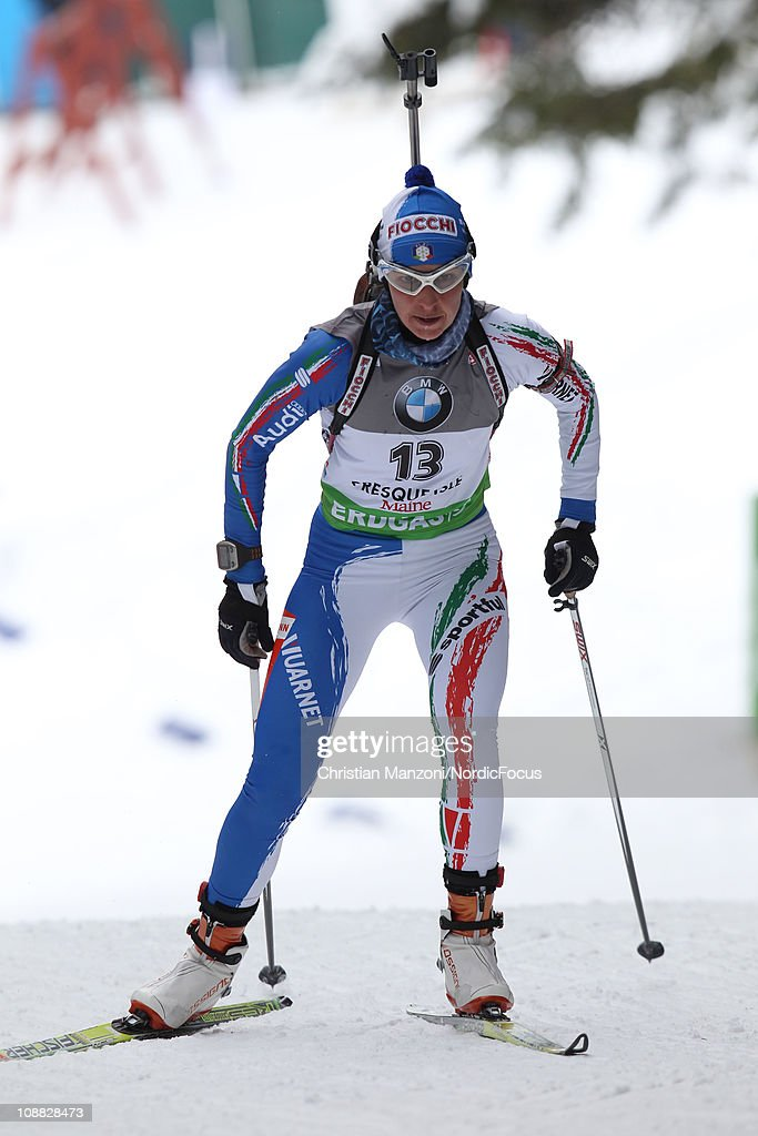 <a gi-track='captionPersonalityLinkClicked' href=/galleries/search?phrase=Michela+Ponza&family=editorial&specificpeople=813639 ng-click='$event.stopPropagation()'>Michela Ponza</a> of Italy competes in the women's sprint during the E.ON IBU Biathlon World Cup on February 4, 2011 in Presque Isle, United States.