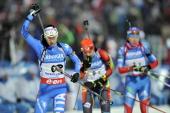 Michela Ponza of Italy takes 3rd place during the IBU Biathlon World Championship Women's 4x6km Relay on February 15 2013 in Nove Mesto Czech Republic
