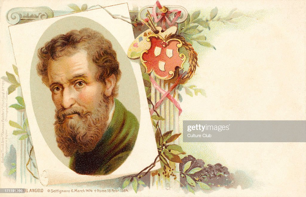 <a gi-track='captionPersonalityLinkClicked' href=/galleries/search?phrase=Michelangelo+-+Artist&family=editorial&specificpeople=116061 ng-click='$event.stopPropagation()'>Michelangelo</a> - Italian artist Italian sculptor, painter, architect.M: 6 March 1475 - 18 February 1564